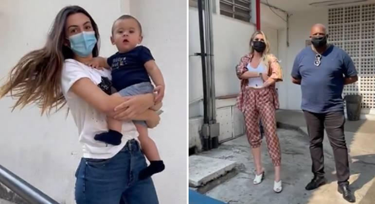 Lívia Andrade ficou parada em frente ao laboratório esperando a ex do namorado – Foto: Reprodução Internet