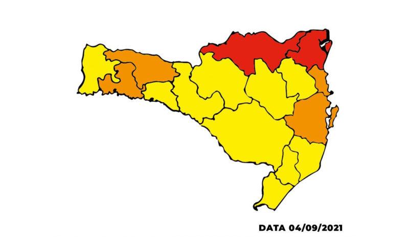 Planalto Norte e Nordeste estão em nível gravíssimo – Foto: Governo de Santa Catarina/Divulgação/ND