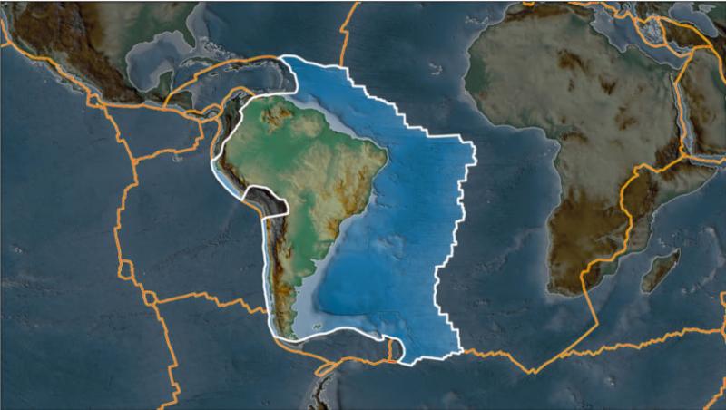 Placa tectônica onde se localiza o Brasil – Foto: Agecom/UFSC/Divulgação/ND