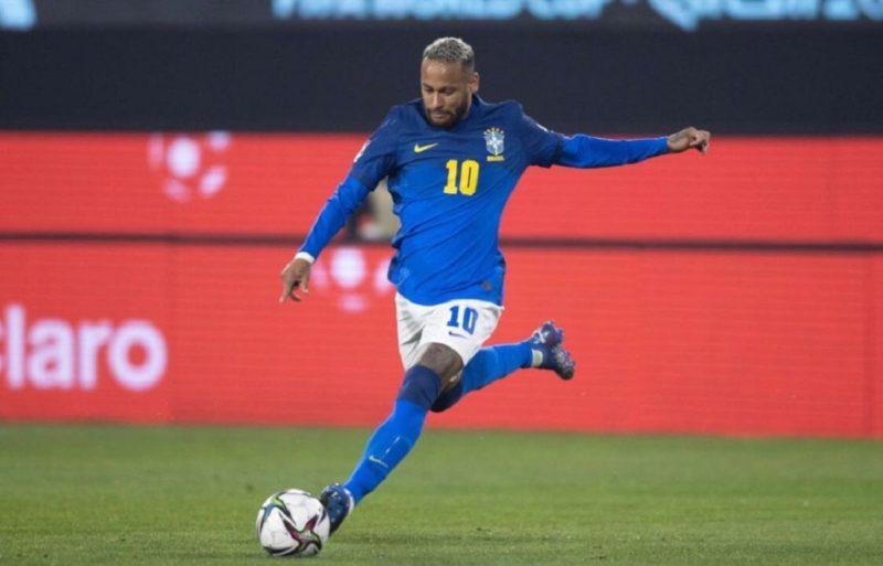 Neymar durante a vitória do Brasil sobre o Chile pelas eliminatórias – Foto: Reprodução/ Instagram