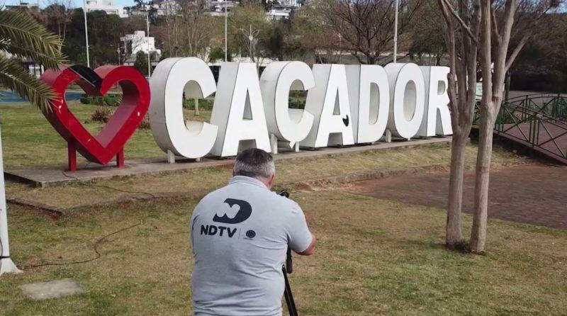 Grupo ND chega a Caçador. – Foto: Reprodução/NDTV