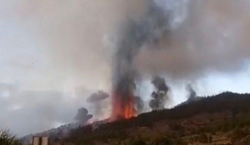 Erupção do vulcão Cumbre Vieja, na Espanha – Foto: Reprodução/ Twitter Involcan