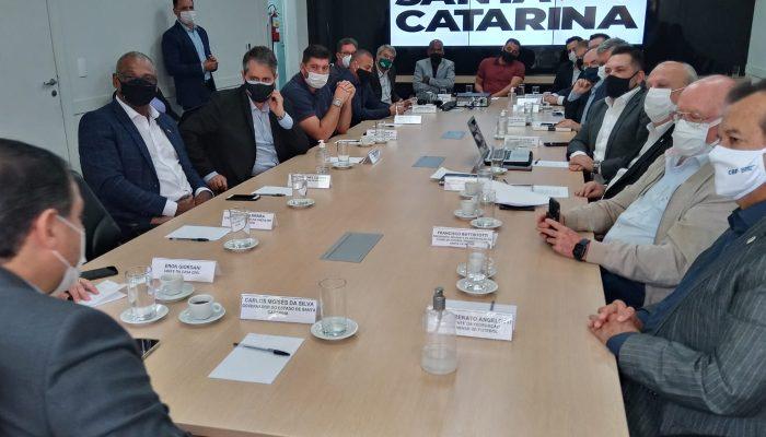 Reunião na manhã desta segunda-feira (13) definiu detalhes do regramento – Foto: Secom/Divulgação
