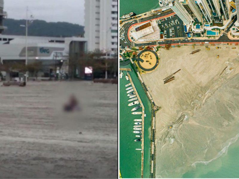 Após cenas de sexo explícito, trecho da praia Central de BC será liberado para população – Foto: Reprodução/Instagram