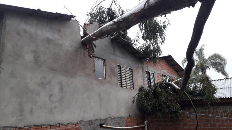 Novo tornado pode ter atingido o Oeste de SC nesta terça (21) – Foto: Divulgação/Corpo de Bombeiros Voluntários