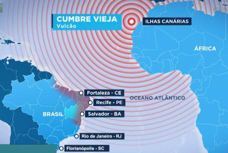 """Oceanógrafo explicou que chances de tsunami atingir Florianópolis """"são baixíssimas"""" – Foto: Reprodução/NDTV RecordTV"""