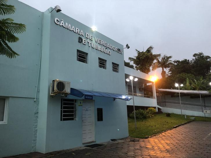 A sede do Legislativo de Tubarão atualmente é considerada acanhada. – Foto: Divulgação