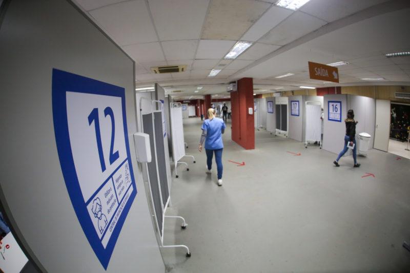 Salas de vacinação em Joinville