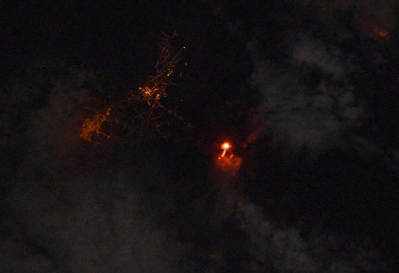 Astronauta francês em missão registra erupção do vulcão Cumbre Vieja – Foto: Reprodução/Redes Sociais/ND