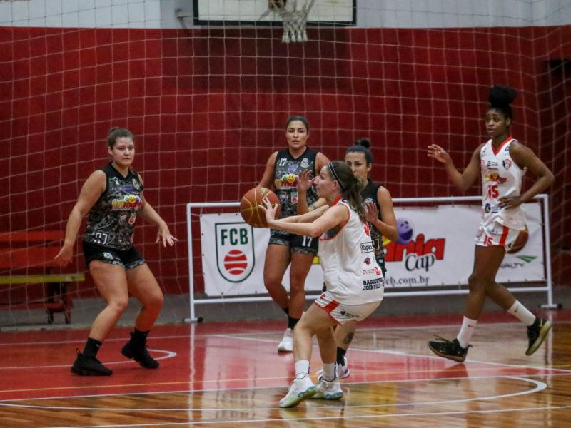 JEC/Ginástico/Sesporte venceu bem a primeira partida e traz clássico do futebol para a quadra nesta quarta-feira (13) – Foto: Vitor Forcellini/JEC/Divulgação/ND