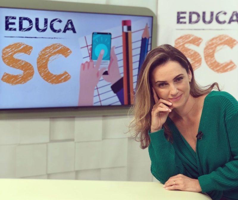 O programa especial será apresentado por Grasiele Aguiar – Foto: Educa SC/Divulgação/ND