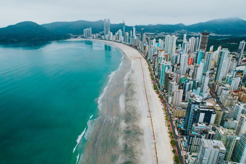Mudanças climáticas alteram planejamento da obra da nova Praia de Balneário Camboriú – Foto: Secom BC/Divulgação