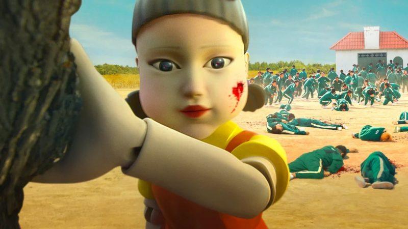 """Boneca mostrada em Round 6 faz parte de brincadeira """"de criança"""" que acaba em mortes – Foto: Reprodução/Netflix"""