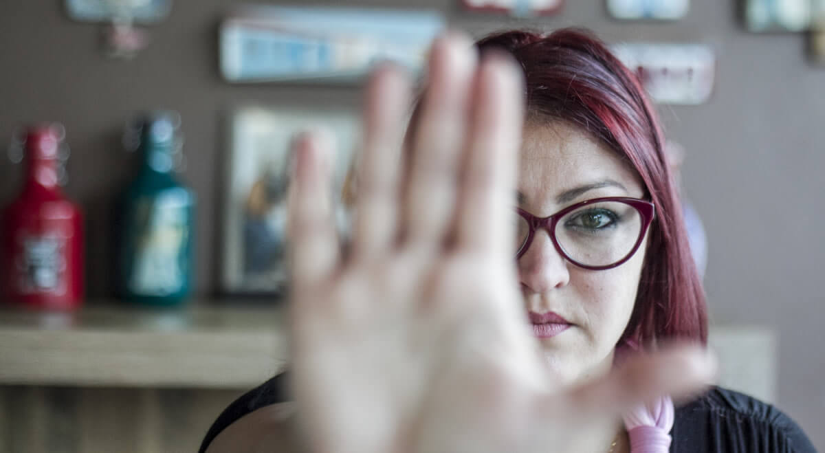 Moradora de Florianópolis, Alice Verdade é sobrevivente da violência doméstica - Marco Santiago/ND